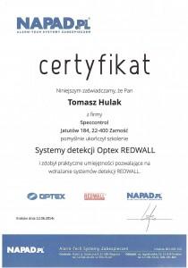 System detekcji Optex Redwall NAPAD